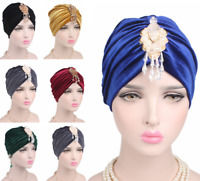Muslim Women Velvet Rhinestone Pendant Hat Turban Arab Cap Head Cover Cap Newest