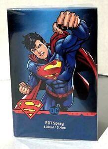 SUPERMAN DC Comics eau de toilette men's Fragrance 3.4oz New In Sealed Box!