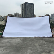 White Home/Outsides Movie Projector Screen Curtain Film 200 Inch 16:9 Large Size