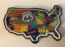 Route 66 USA Map Magnet 2 sided Main Street America's Highway
