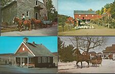 LOT of 4 AMISH Pennsylvania DUTCH Cards ~ All Different/Unused