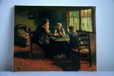 Oil Painting Depicting Family Dinner During the Golden Age in the Netherlands