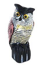 Eule Uhu aus Kunststoff Gartenfigur Gartendeko 36cm Dekofigur Vogelscheuche neu