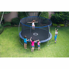 Round Trampoline 14 Ft Jump Bounce w/ Safety Net Enclosure & BONUS Game NEW