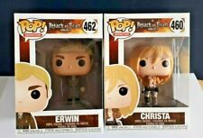 POP Animation Attack on Titan figure ERWIN 462 & CHRISTA 460.. NOT MANY LEFT NOW