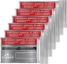 CLUSAZ 6 Couvertures de Survie XL (210cm x 160cm) - Retient 90% DE la Chaleur