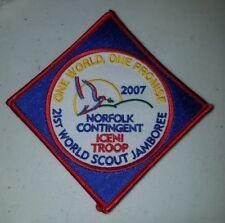 21ST World Scout Jamboree Norfolk Contingent Iceni Troop UK 2007 WSJ
