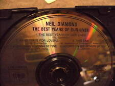 The Best Years of Our Lives by Neil Diamond Cd - Used