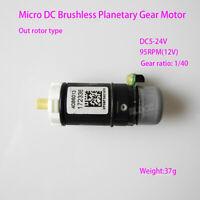 12V-24V Micro DC Brushless Planetary Gear Motor External Rotor W/ Hall Sensor FY
