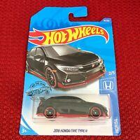 Hot Wheels 2018 Honda Civic Type R Black Car Toy Mattel Brand NEW