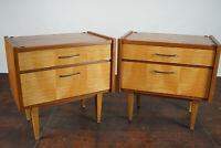 60s Vintage Mini Sideboard Nachtkommode Beistelltisch Nachttisch Mid-Century 1/2