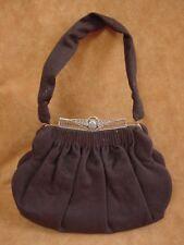 Stefen Brown wool Handbag purse gold tone clasp