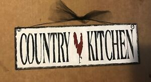 country kitchen chicken rooster farmhouse wall art home decor wooden 4x12 sign