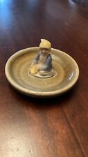 VINTAGE IRISH PORCELAIN RING DISH , LEPRECHAUN TRINKET DISH