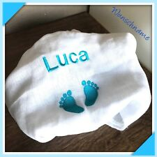 Mullwindel❤️mit Wunschnamen bestickt❤️ super Geschenkidee für Baby's zur Geburt