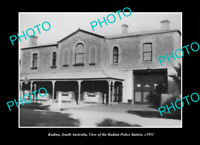 OLD POSTCARD SIZE PHOTO KADINA SOUTH AUSTRALIA, THE POLICE STATION c1911