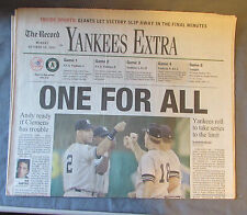 New York Yankee Complete Sports Section from The Record October 10 to 16, 2001