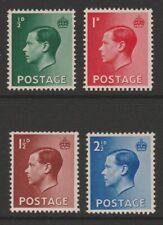 Gb Mint Eviii E8 1936 definitive set sg457-460 Mnh