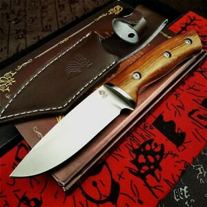 5CR13MOV Steel Outdoor Knife Mirror Light Sharp Blade Tactical Hunting Tool