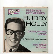 ROCKABILLY-BUDDY HOLLY-EP-PEGGY SUE GOT MARRIED/CRYING, WAITING, HOPING/LEARNING