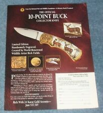 Franklin Mint 10-Point Buck Collector Knife Vintage Ad