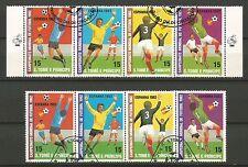 FOOTBALL Espagne 1982 S.TOMÉ E PRINCIPE  un lot de timbres oblitérés /T233