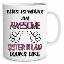 SALE!! Awesome Sister in Law Coffee Funny Gift Birthday Gift For Friends Family