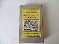 Alice's Adventures in Wonderland 2 Book Set, A Centennial Edition 1965