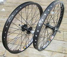 """Wheel Set 20"""" BMX Park 3/8 Front 14mm Flip Flop Rear Double Walled Rims New"""