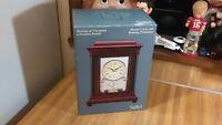 Stiffel Quartz Mantel Clock with Rotating Pendulum,box,vg!