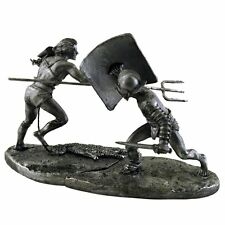 Fight of gladiators. Tin toy soldiers 54mm miniature metal figures, sculpture
