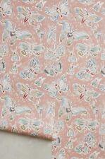 NIP Anthropologie Lulie Wallace pink blue Sketched Butterflies Wallpaper Roll