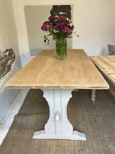 Antique Solid Oak  5 Foot Refectory Farmhouse Kitchen Dining Table Refurbished