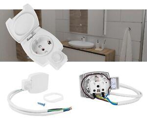 Kombi- Steckdose 230V mit Schalter für Spiegelschrank Möbel Beleuchtung Art.4239