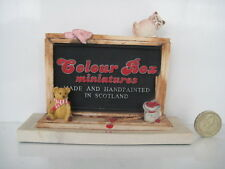 SIGNED CLUB PIECE 1987 - 1988 COLOUR BOX CAT PETER FAGAN HOME SWEET BLACKBOARD