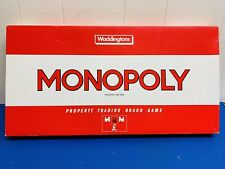 MONOPOLY Board Game Vintage 1984 By Waddingtons 100% Complete Retro Long Red Box