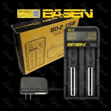 Basen BD2 LCD Dual Channel Compact 2A Quick Battery Charger / 21700 26650 18650