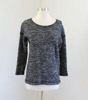 J Crew Jaspe Tunic Gray Black White Static Knit Sweater Top Size S Wool 08680