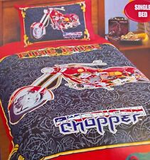 ~ American Chopper - SINGLE BED MOTOR CYCLE BIKE DOONA QUILT DUVET COVER Harley