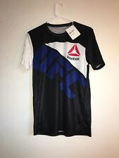 New Men's REEBOK UFC Official Fighter Jersey Shirt Sz S Ronda Rousey MSRP $80
