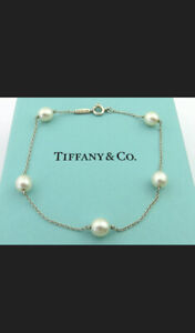 Tiffany & Co Silver 925 Peretti Pearls Pearl by the Yard Bracelet RRP £450