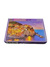 New Jigsaw Puzzle 300 Piece Italy Ocean Town Night Blue Hour