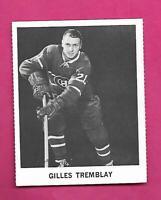 RARE 1965-66 COCA COLA CANADIENS GILLES TREMBLAY CARD (INV# C9707)