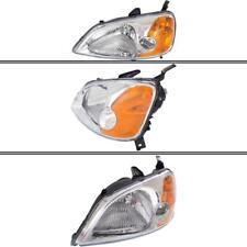 New Driver Side Headlight for Honda Civic 2001-2003
