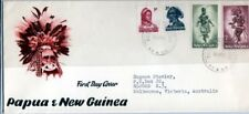 Papua New Guinea, Scott cat. 153-4, 158-9. Musician & Dancer. First day cover.