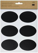 "18 OVAL Design Chalkboard Label Stickers, 3"" x 2"""