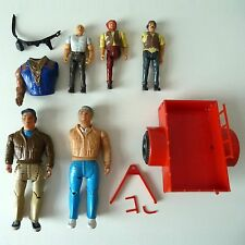 Vintage A-Team SPARE PARTS ONLY - Attack Cycle Trailer + Figures - Galoob 1983