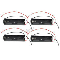 4pcs Plastic Battery Holder Case Storage Box & Wire Leads for 1x18650 Battery