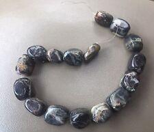 Destash Fancy Mixed Jasper? Gemstone Chunky Polished Nugget Bead Strand Lot