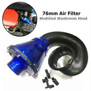 Universal Air Power Intake Bellows Filter Car High Flow Cold Air Intake w/Filter